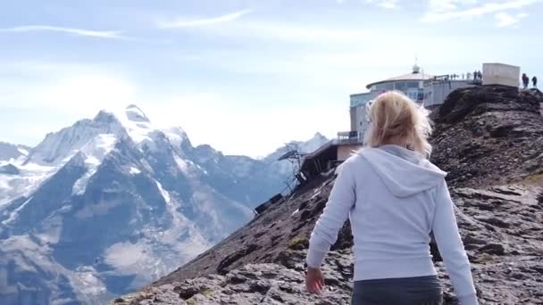 Schilthorn Peaks Switzerland woman