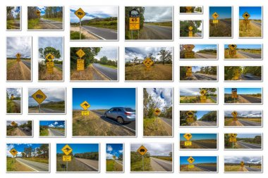 Australian warning signs collage