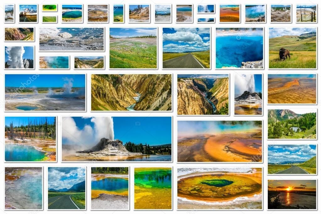 Yellowstone National Park collage