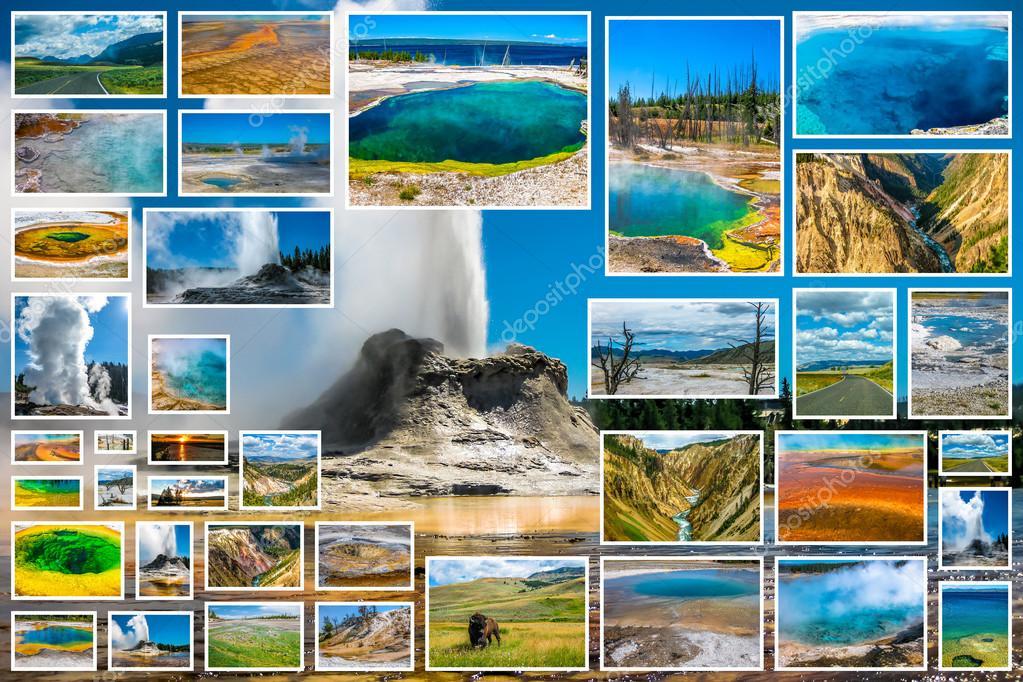 Yellowstone Castle Geyser Collage