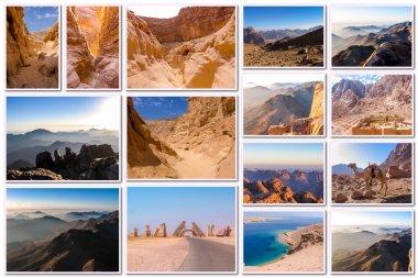 Egypt desert collage