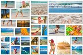 Fotografie Beach vacation collage