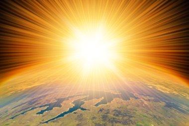 Nuclear Blast on Earth