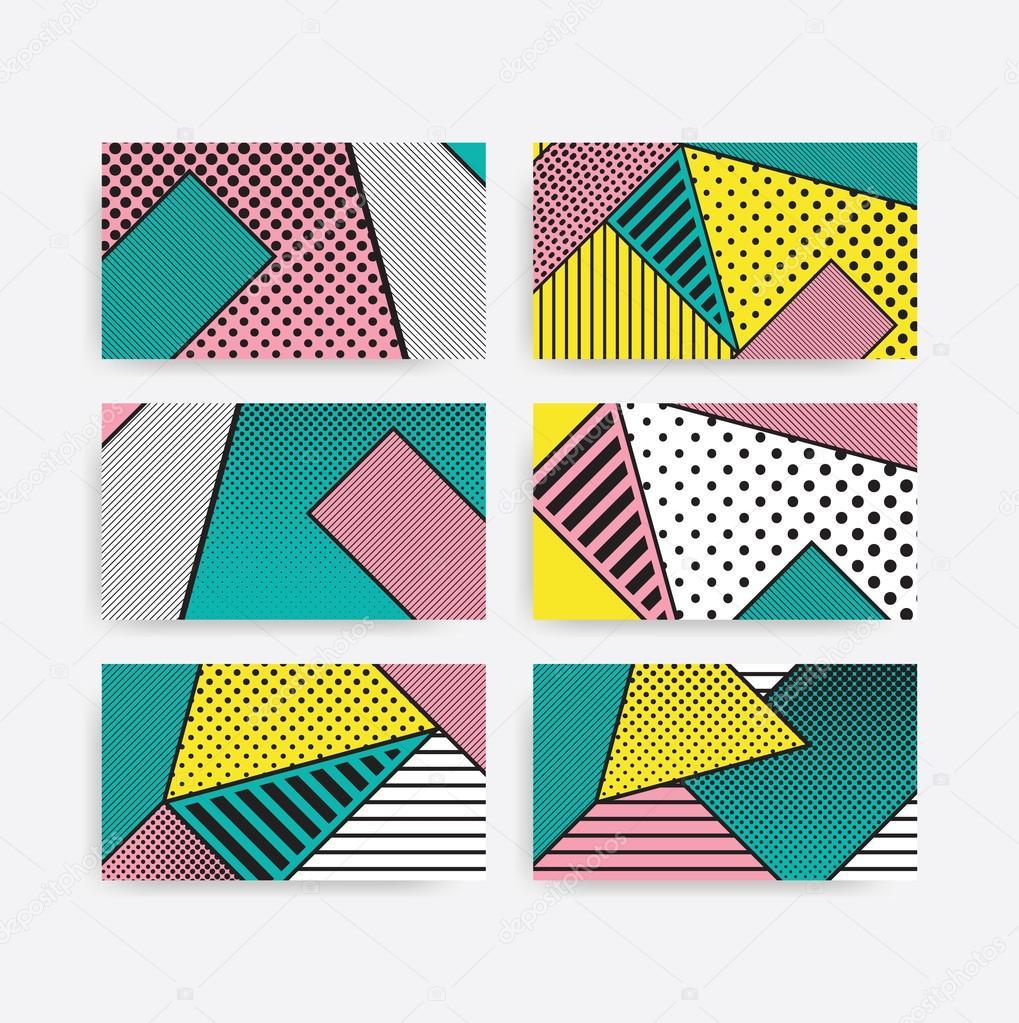 Célèbre de motif géométrique coloré tendance pop art — Image vectorielle  XQ58