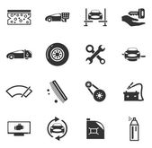 Auto shop ikony nastavit