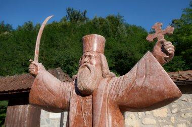 Statue Hadzi Melentius Stefanovic In Raca Monastery, Serbia