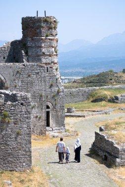 Muslim Family Visit Rozafa Castle, Shkoder