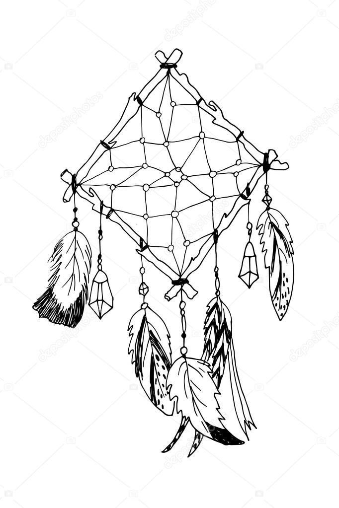 Los indios americanos tradicionales símbolo el cazador de sueños ...