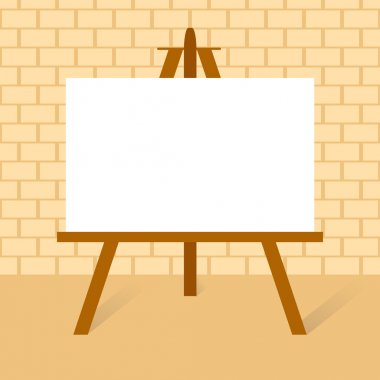Wooden easels with canvas