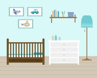 Baby room with furniture.