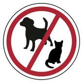 Domácí zvířata jsou zakázána