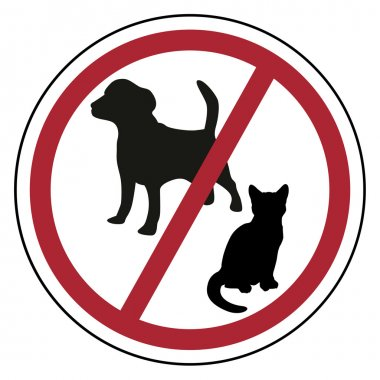 Pets are forbidden