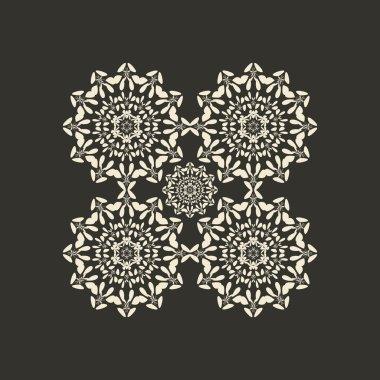 Mandala oriental pattern. Round ornament background set.