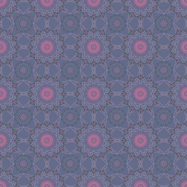Mandala round geometric ornament seamless pattern. Circular oriental design template background. Ethnic tribal  texture.