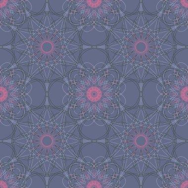 Mandala round geometric ornament seamless pattern. Circular oriental design template endless background. Ethnic tribal symbol  texture.