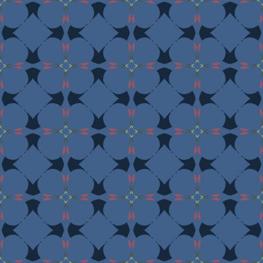 Geometric ornament seamless pattern.  Textile design template seamless background. Round, polygonal and grunge motif endless texture.