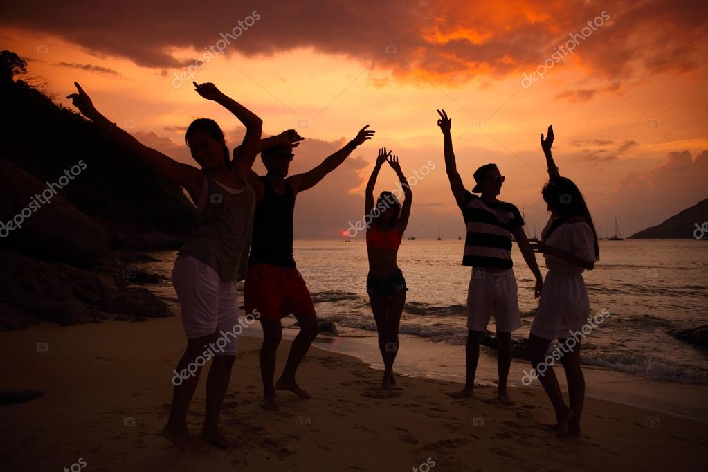 People Partying On Beach Stock Photo 95882232