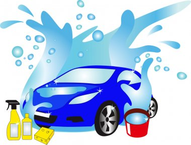 the car in water flow, detergents for transport,