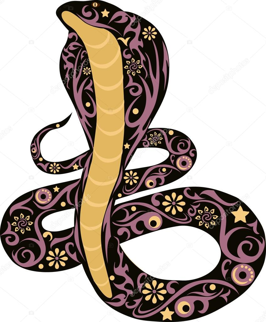 Dibujos Escorpiones Y Cobras Vector Serpiente Negro Vector De