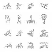 Fényképek Outline icons for extreme sports.