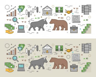Horizontal concept of stock market.