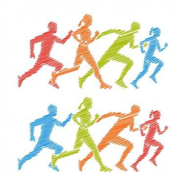 Shading marathon logo.