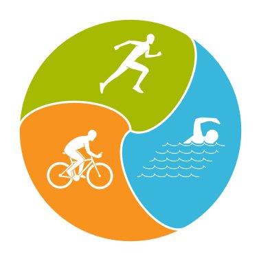 Stylish logo for triathlon