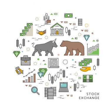 Vector concept for stock exchange