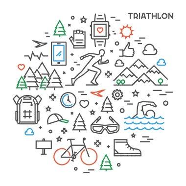 Line round concept for triathlon