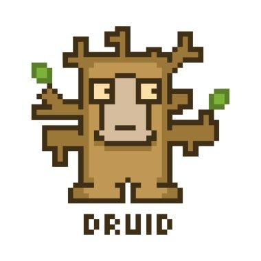 Pixel druid for 8-bit video games