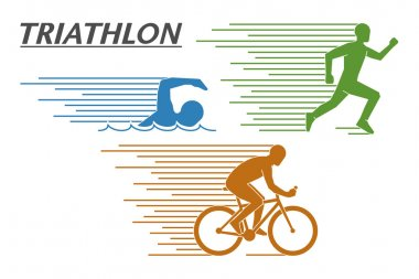 Vector logo triathlon on a white background.