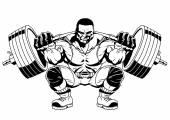 Photo bodybuilder sports workout