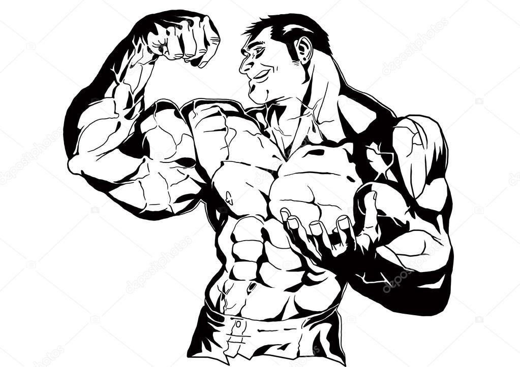 Bodybuilder Big Biceps