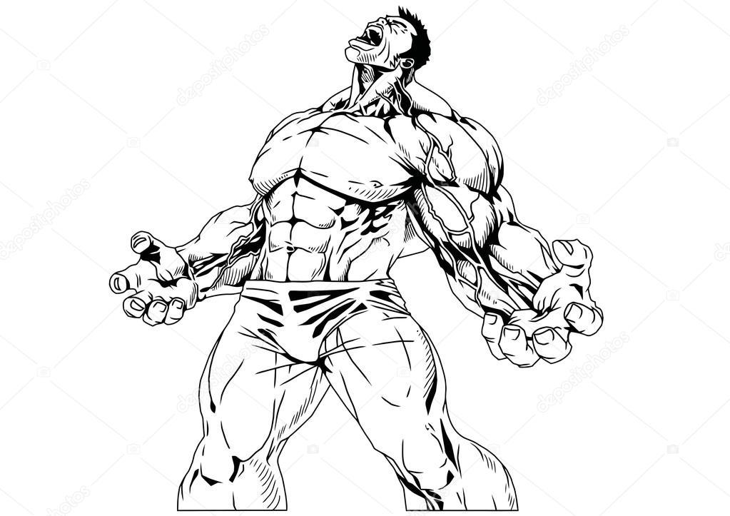 Bodybuilder muskulösen Oberkörper — Stockfoto © orrlov #74200617