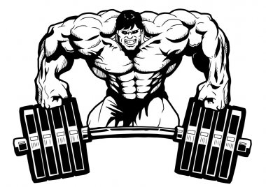 Bodybuilder gym logo
