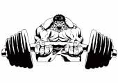Photo Bodybuilder powerlifting