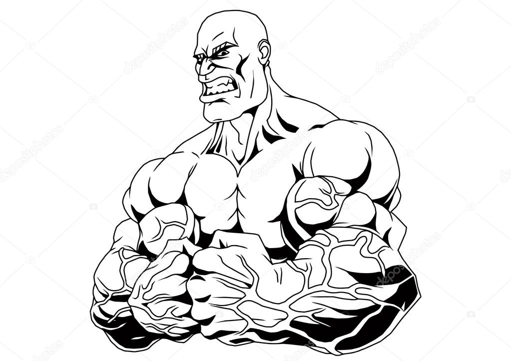 Cuerpo musculoso culturista — Foto de stock © orrlov #74819637
