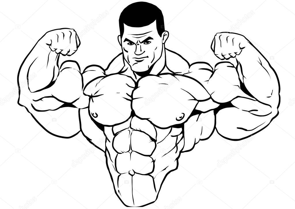 muskulösen Oberkörper bodybuilder — Stockfoto © orrlov #75867917