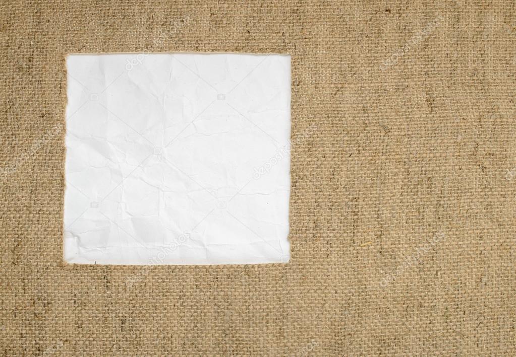 Marco hecho de arpillera y lugar para el texto — Foto de stock ...