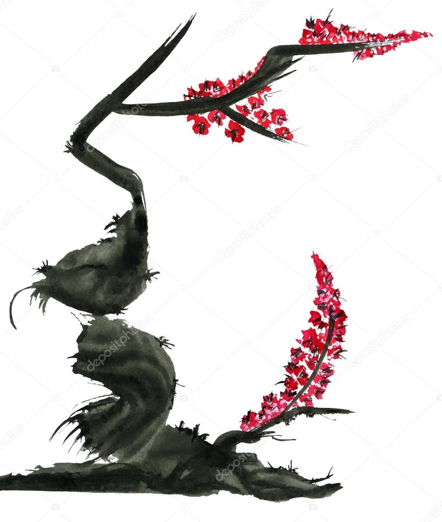 Marinakutukova 98505066 - Dessin arbre chinois ...