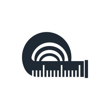Tape measure icon clip art vector