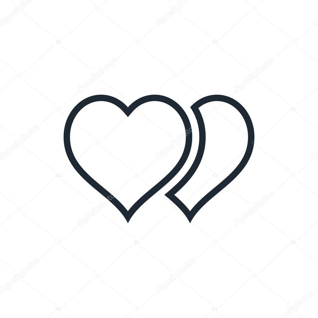 2 heart outline u2014 stock vector luka007 72231079
