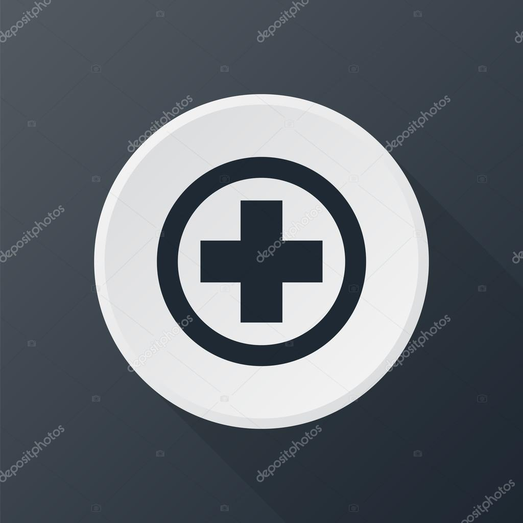icon medical in round