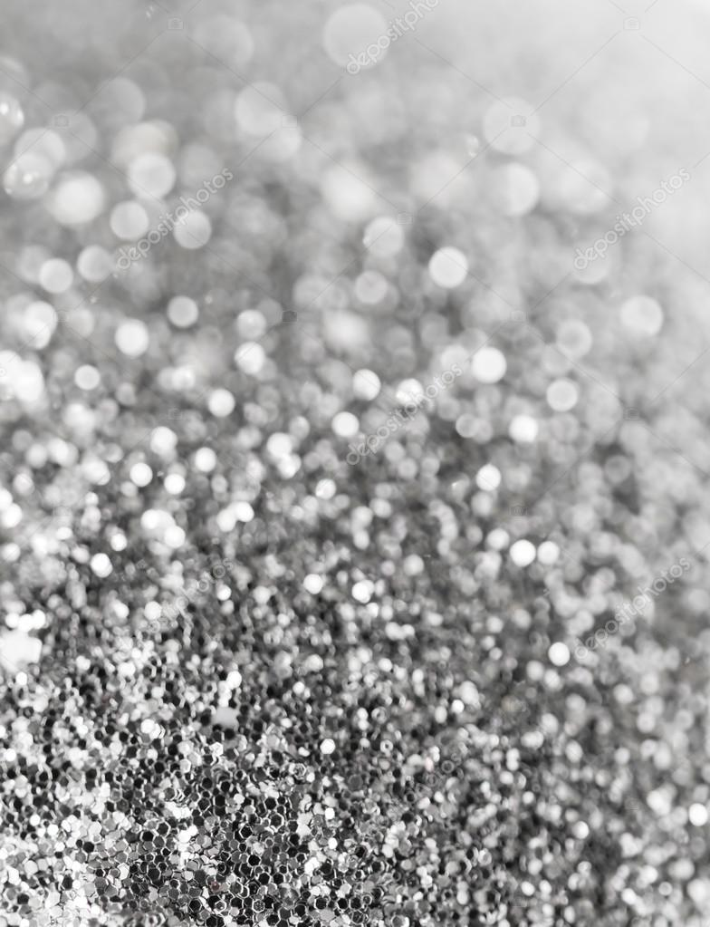 Holiday Abstract Black And White Glitter Background With