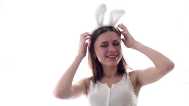 fehér Húsvét nyuszi lány