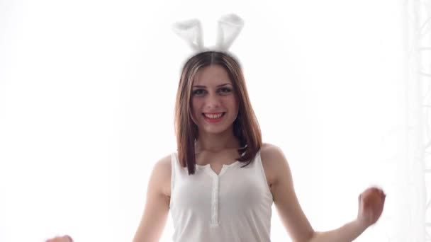 weiße Ostern Bunny girl