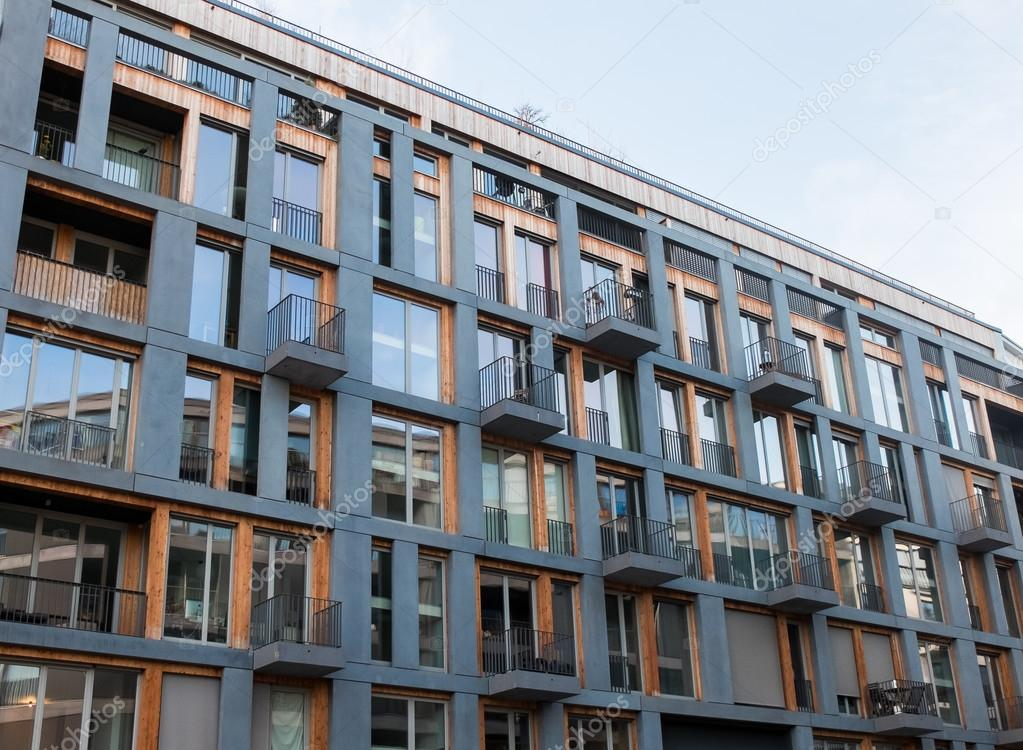 Modern Apartment Building With Small Balconies U2014 Stock Photo