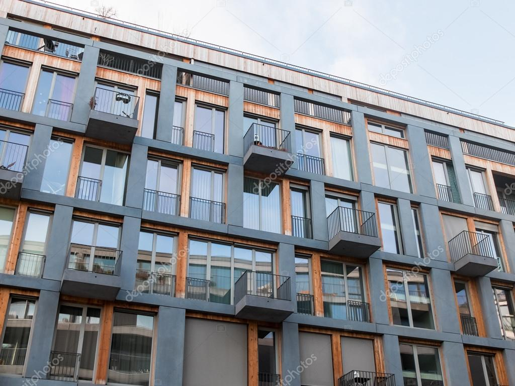 Great Modern Apartment Building With Small Balconies U2014 Stock Photo