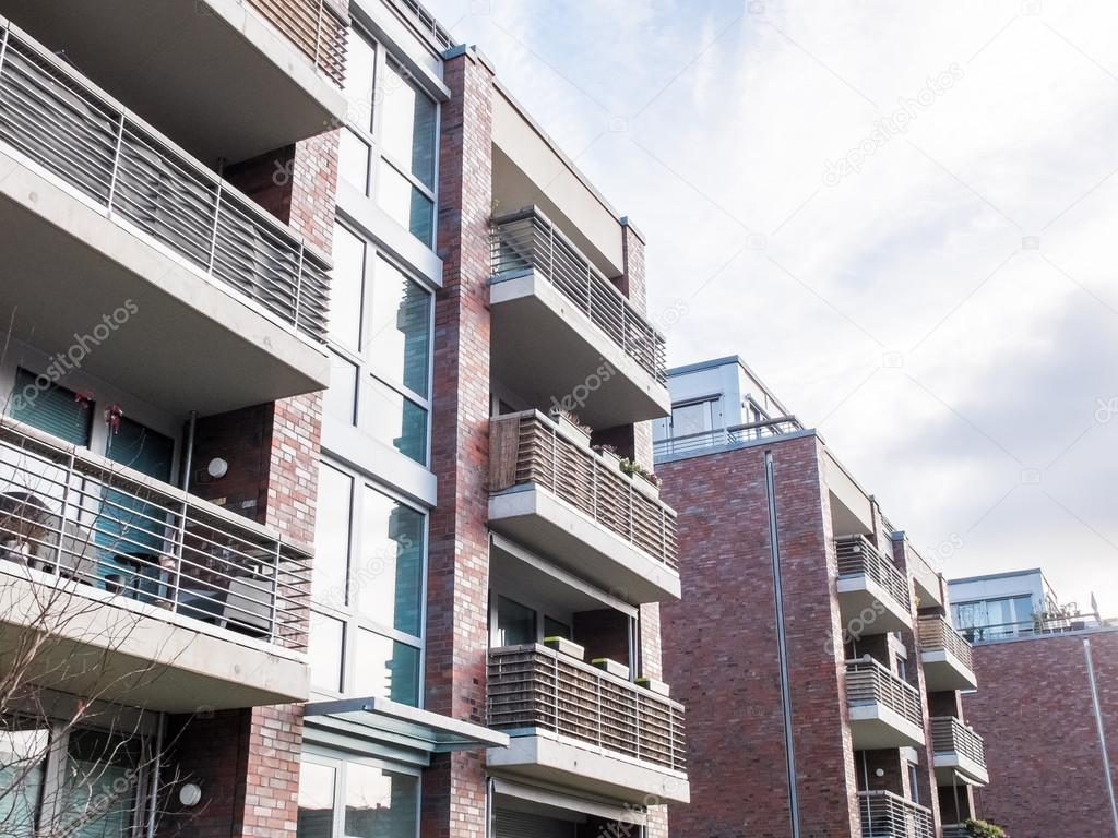 Captivating Modern Brick Apartment Buildings In Complex U2014 Stock Photo