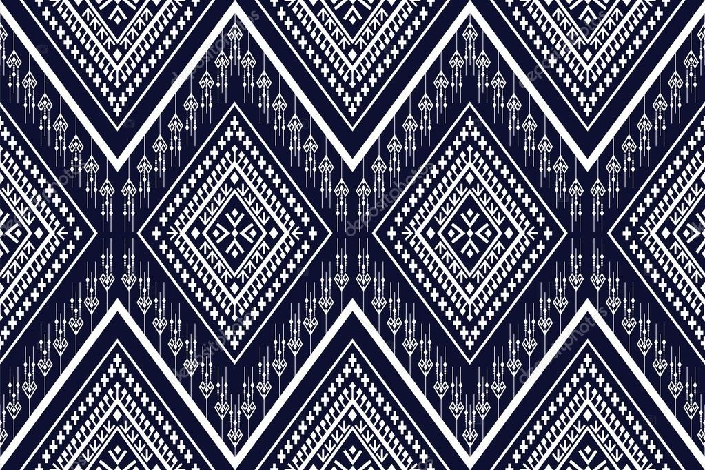 Geometric Ethnic Pattern Design For Background Or Wallpaper